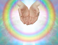 Rainbow healing circle Stock Images