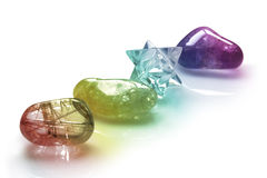 Rainbow Healing Crystals Royalty Free Stock Photography