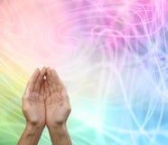 Rainbow Healing Reiki Share Message Board Royalty Free Stock Photography