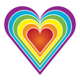 Rainbow heart stock illustration