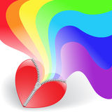 Rainbow from the heart Stock Photography