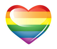 Rainbow heart. Royalty Free Stock Photography