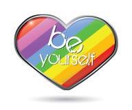 Rainbow heart Stock Photos