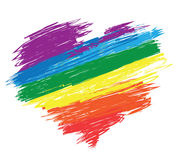 Rainbow heart royalty free illustration