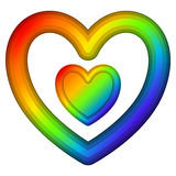 Rainbow Heart Stock Images
