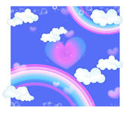 Rainbow and heart Royalty Free Stock Photo