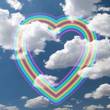 Rainbow Heart Stock Photography