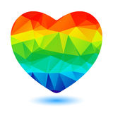 Rainbow heart Royalty Free Stock Photos