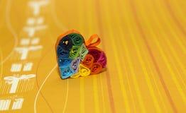 Rainbow heart Stock Images