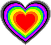 Rainbow Heart. A heart with multiple colours Stock Photography