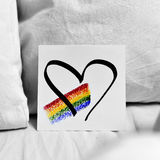 Rainbow and heart in a note Royalty Free Stock Photography