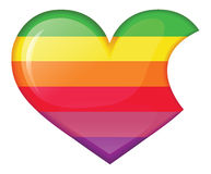 Rainbow heart in the style of apple Royalty Free Stock Image