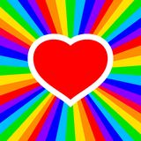 Rainbow heart Stock Photo