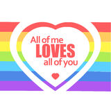 Rainbow heart. Vector illustration. Royalty Free Stock Images