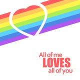 Rainbow heart. Vector illustration. Stock Photos