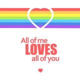 Rainbow heart. Vector illustration. Stock Images
