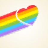 Rainbow heart. Royalty Free Stock Image