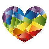 Rainbow heart Royalty Free Stock Photo