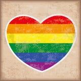 Rainbow Heart Vintage. Rainbow heart on the vintage background Vector Illustration