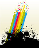 Rainbow and hearts Royalty Free Stock Photography