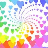 Rainbow hearts. Background of rainbow hearts swirl Royalty Free Stock Photo