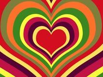 Rainbow hearts. (vector) - illustrated background stock illustration