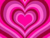 Rainbow hearts. (vector) - illustrated background Royalty Free Illustration