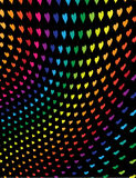 Rainbow hearts. Hearts in a rainbow of colors on a black background Stock Image