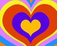 Rainbow hearts Royalty Free Stock Image