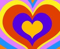 Rainbow hearts. Abstract vector illustration vector illustration