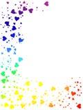 Rainbow of hearts Royalty Free Stock Photo