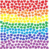 Rainbow Hearts Background Stock Photography