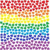 Rainbow Hearts Background Stock Photography