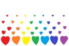 Rainbow Hearts Background Royalty Free Stock Photo