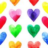 Rainbow hearts pattern Royalty Free Stock Photo
