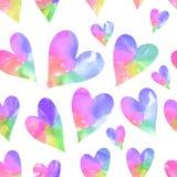 Rainbow hearts. Seamless hearts background. Happy Valentine's Day Stock Photography