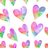 Rainbow hearts. Seamless hearts background. Happy Valentine's Day royalty free illustration