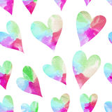Rainbow hearts. Royalty Free Stock Photo