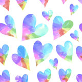 Rainbow hearts. Stock Photography