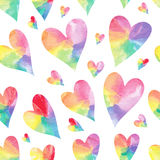 Rainbow hearts. Stock Photo