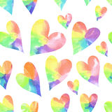 Rainbow hearts seamless pattern. Stock Image