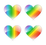Rainbow Hearts Stock Photos