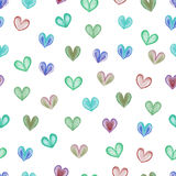 Rainbow hearts. Royalty Free Stock Photography
