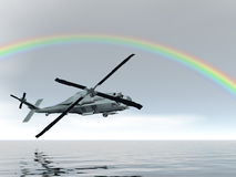Rainbow Helicopter Royalty Free Stock Photo