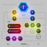 Rainbow Hexagon Stock Photos