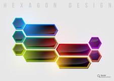 Rainbow Hexagon Royalty Free Stock Photos