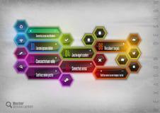Rainbow Hexagon Stock Image