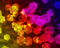 Rainbow Hexagonal Background Royalty Free Stock Photo