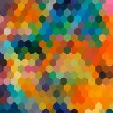 Rainbow Hexagonal Honeycomb Abstract Background Royalty Free Stock Photos