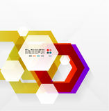 Rainbow hexagons modern design template. This is file of EPS10 format Royalty Free Stock Image